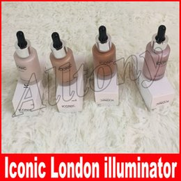 Wholesale Face Illuminator Liquid - New Iconic London illuminator Liquid Highlighter In Shine original shine glow three color face make up highlighter 4 color