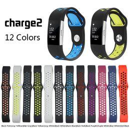 Wholesale Silicone Wristband Strap - sport watch band Strap for fitbit charge 2 band Silicone strap For Fitbit charge 2 bracelet smart wristbands Accessories