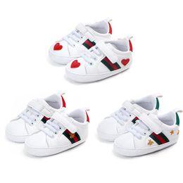 1 paire de chaussures pour tout-petits, chaussures blanches, à semelles souples, antidérapantes, pour garçon, fille de garçon, de 0 à 18 mois ? partir de fabricateur