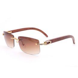 22fcb05e528 rimless buffalo horn eyeglasses frames Canada - Vintage Rimless Stone Sunglasses  Men Accessories Natural Buffalo Horn