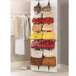 Wholesale box shelves - Adjustable Storage Holders And Racks For Bag Clothing After Door Hanging Purse Hook Rack Rope Lanyard Organization Tool Box Pack HH7-1025