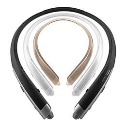 привет стерео Скидка Беспроводная стереогарнитура HBS-1100 Платиновые Bluetooth-наушники для LG Tone Platinum HBS-1100 Harman Kardon Hi-Fi музыкальные наушники