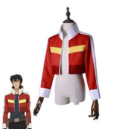 Voltron: El legendario defensor Keith Chaqueta traje rojo corto abrigo Cosplay Adultos Top Outfit Juego de rol desde fabricantes