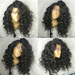 Wholesale wavy silk top lace wig - Glueless Silk Top Full Lace Wig Deep Wavy Silk Base Wig 4x4 Silk Top Full Lace Wigs With Natural Hairline And Baby Hair