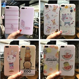 Wholesale Cartoon Phones - For iphone X 8 plus cell phone case iphone 7 6 plus case Soft cartoon TPU all full Fall prevention wholesale price free shipping