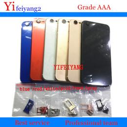 Сим-лотки онлайн-100% качественная задняя крышка корпуса для iPhone 6, как 8 Алюминиевая металлическая задняя крышка батарейного отсека стиль 8 с боковой кнопкой лоток для SIM-карты