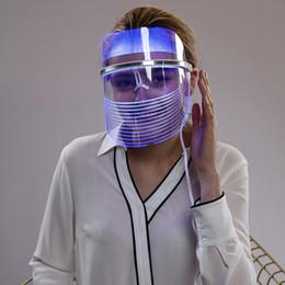 Luz led para el tratamiento de la piel online-Mascarilla facial con LED Uso en el hogar Facial Belleza Terapia de luz para el tratamiento del acné Removedor de arrugas Rejuvenecimiento de la piel