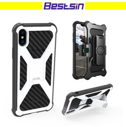 Wholesale fit face - Bestsin Armor Case With Stand and Clip Front Face Protection Good For Outdoor Activity For Iphone 78X Note 8 S8+