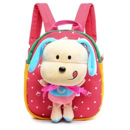 Wholesale Cute Cartoon Dog Backpack - 1pcs Cute Cartoon Backpack with Plush Puppy Dog Kindergarten Boys Girls Schoolbag for Kids Animal Plush Stuffed Toys Gift