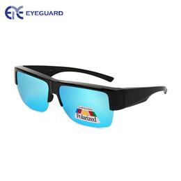 Lunettes de soleil en Ligne-EYEGUARD Fit Over Sunglasses Couverture lunettes de lecture Myopia Lentille polarisée Lumière Élégant
