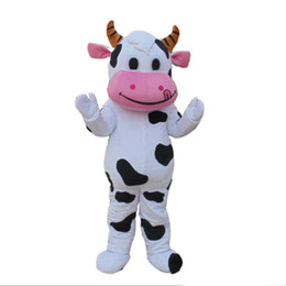 Costume della mascotte della mucca da latte online-Vendita della fabbrica di sconto 2018 Fancy Dress Fancy del vestito della mascotte del DAIRY della mucca da allevamento professionale Fancy Dress Trasporto libero