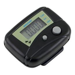 Compteurs de calories en Ligne-Étape podomètre compteur de calories lcd noir pratique pratique compteur pratique courir distance accessoires de marche