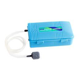Aria pompa di pietra online-NUOVA pompa d'aria del carro armato di pesci a pile dell'acquario con l'aeratore dell'ossigeno della pietra dell'aria portatile