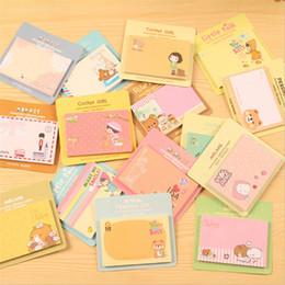 Biscoitos vermelhos on-line-Novo papelaria coreano bonito dos desenhos animados Little Red Riding Hood biscoitos N adesivos adesivos nota pegajosa memo livro para DHL frete grátis