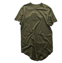 Vêtements rock pour hommes en Ligne-Mens T-shirts Eté Extended T-shirt Palangre Hip Hop Tee Shirts Swag Vêtements Harajuku Rock Tops Homme À Manches Courtes
