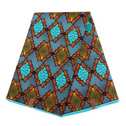 Precios de la cera online-Imprime tela de cera de poliéster 6 yardas de tela de cera africana de forma elegante con el mejor precio al por mayor WD-6