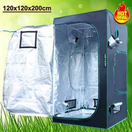 Wholesale Reflective Led - Marshydro LED 1680D Grow Tent Greenhouse 120*120*200 100% Reflective Mylar Hydroponics Tent Non Toxic Room Box stock in US DE AU UK CA