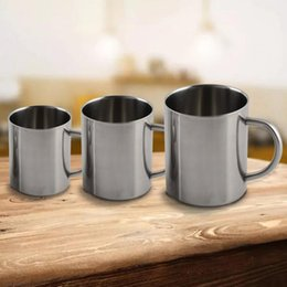 Wholesale Tea Tumbler Wholesale - 220ml 300ml 400ml Stainless Steel Wine glass Portable Mug Cup Double Wall Travel Tumbler Coffee Mug Tea Cup with Handle YYA1138