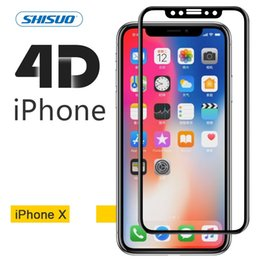 Wholesale Glasses Phones - Iphone X toughened membrane iPhone6 7 8 full screen coverage of high-definition glass 4D apple 8plus phone toughened
