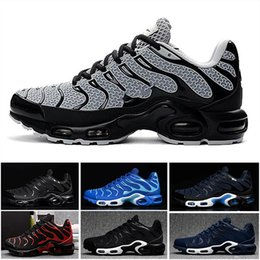 online store c98f0 4cc8e Tn plus Mens Running Shoes Breathable Trainer Men Sports Shoes Black White  Red Air Casual Outdoor Sport Sneaker Size 40-47