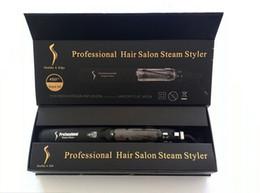 raddrizzatori per capelli neri Sconti 2017 New Original KangRoad Steam Piastre per capelli professionali per capelli Iron Salon Steam Styler 2 in 1 capelli Straightening Iron Flat