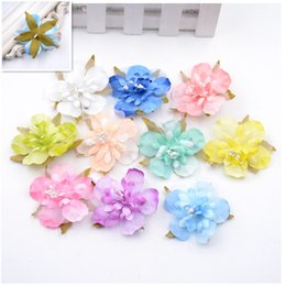Wholesale Home Decorate Flowers - 10PCS 5CM multicolor rayon cherry head wedding party gift boxes decorated wreath DIY home decoration craft artificial flowers