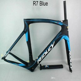 Wholesale Carbon Road Bike 58cm - 2018 style Free shipping sky team carbon bike frame Ridly bicycle carbon frame T1000 UD cycling road bike frame set free shipping