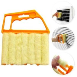 Wholesale Vertical Blinds Windows - Blind Cleaner Vertical Window Blinds Brush Cleaner Mini 7 Shape Hand Held Window Brush Pinceis Novelty Households Cleaning CCA8593 200pcs