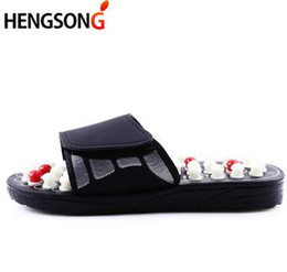 Wholesale Massage Acupoint - HENGSONG Acupoint Massage Slippers Sandal For Men Feet Chinese Acupressure Therapy Medical Rotating Foot Massager Shoes Unisex