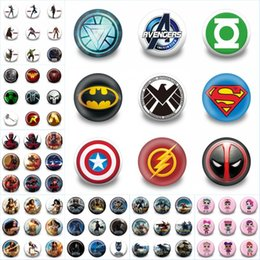 tarjeta de navidad foto titulares Rebajas 45pcs + Marvel Hero High Quality Pins Badges Cartoon 3.0 CM Broches redondos Accesorios de moda Botones Bolsas / Sombreros Decoración Kid Gift Party Favors
