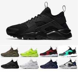 Wholesale Rainbow Shipping - 2018 New Huarache Running Shoes Huaraches Rainbow Ultra Breathe Shoes Men & Women Huaraches Multicolor Sneakers Air Size 36-46 Free Shipping
