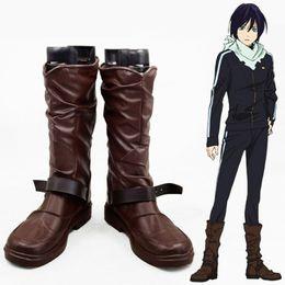 Handgemachte schuhe cosplay online-Anime Noragami Yato Cosplay handgemachte Stiefel Unisex pu Leder Daily Boots benutzerdefinierte Größe Cartoon Schuhe A51502