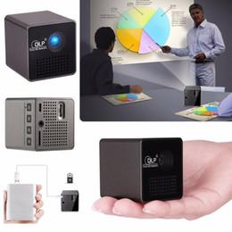 2019 cheap androids en gros Mini projecteur intelligent sans fil à LED UNIC P1 P1 + Mini-projecteur vidéo de poche Miracast DLNA