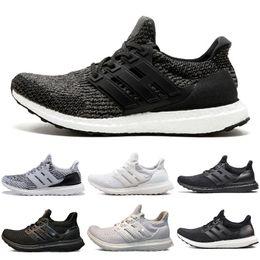 2dd04f6bf98 Adidas yeezy ultra boost ultraboost Spedizione gratuita 2018 Ultra 3.0 4.0  Triple Black Sport Shoes Donna Ultra 3 Primeknit Runs Moda uomo Scarpe
