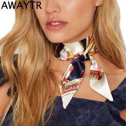Wholesale Choker Scarf Necklace - whole saleAWAYTR Vintage Autumn And Winter Bohemia Print Flower Ribbon Scarf Choker Necklace For Women Ribbon Necklaces Accessories