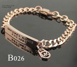 Niedrige logos online-Großhandelsqualitäts-Frauen-Schönheit einfache Art und Weise Brief Logo Armband niedriger Preis B026