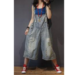 Para mujer Denim Wide Leg Cargo Monos mamelucos Monos Body para mujer suelta Plus Size Oversized Casual Fashion 80489 desde fabricantes