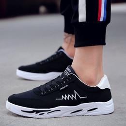 6a2b1b20 Primavera y otoño Estilo coreano Negro Color blanco Zapatillas de lona  Hombre Mocasines Cómodos y transpirables con cordones Zapatos de ocio  informal