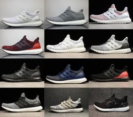 Wholesale Woman Shoes Size 12 - Big Size Ultra boost 4.0 Triple Black Men Running Shoes Oreo Triple white Black CNY Grey ultraboost Primeknit Women sneakers US 5-12