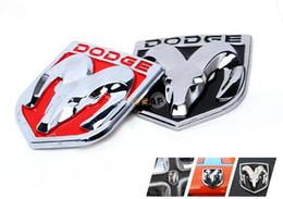 (6 styles) 9 * 8cm 3D Autocollants De Voiture De Tête De Ram Zine Emblème En Métal Réaménagement En Métal Chrome Badge Pour Challenger ? partir de fabricateur