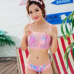Correa de panty gratis online-Gather Sexy Bra Wire Free Ajustado Correas Push Up Bra Mujeres Hermosa Back Underwear Anti Glare Bra y conjunto de bragas para vestido