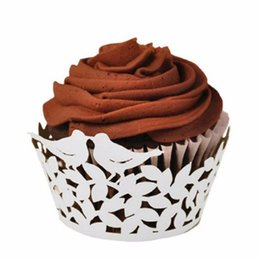 Wholesale cup cakes cases christmas - Love Birds Laser Cutting Cake Cupcake Paper Wrappers Muffin Cases Baking Cup Case Birthday Wedding Christmas Party Decor
