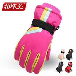 Wholesale Moto Girl - J18 Boys Girls Waterproof Ski Gloves Winter Snow Snowboard Gloves Moto Bike Cycling Climbing Camping Hand Warmer Ski Helmet Mate