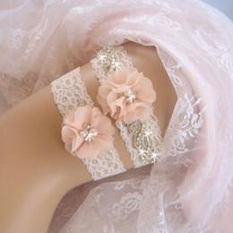 Wholesale Bridal Keepsake - Wholesalre 2pcs Set Bridal Garters LILIC Keepsake Toss Lace Garters Wedding Garter Set Bridal Accessories 50set