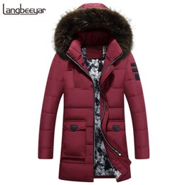 Wholesale Winter Jacket Fur Hood Mens - New Fashion Clothing Duck Down Jacket Men Keep Warm Mens Winter Parka With Fur Hood High-grade Mens Winter Jackets And Coats