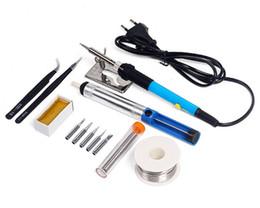 Wholesale temperature solder iron - HILDA 220V 60W Electrical Soldering Iron Adjustable Temperature Soldering Gun Welding Rework Repair Tool Kit free shipping