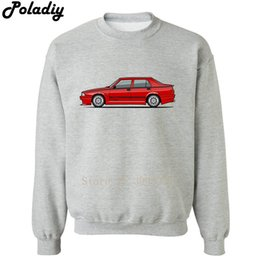 Wholesale Alfa Red - Alfa Romeo 75 Milano Turbo Evoluzione Rosso Hoodies Cotton Casual Clothing Men Women Autumn Winter Sweatshirts