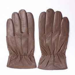 leather hair gloves Promo Codes - 2018 New Winter man gloves warm soft men's glove men mittens sheep hair lining Sheepskin Genuine leather gloves