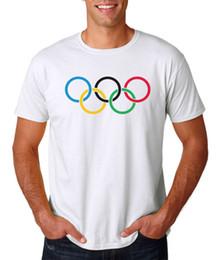 Olympische ringe online-Olympische Ringe Logo T-Shirt - Vintage Retro Style Track, Schwimmen, Ski USA Sport