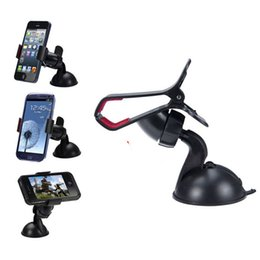 Wholesale Iphone5 Car - 360 degree Car Windshield Mount cell mobile phone Mounts Holders Bracket stands for iPhone5 4S for samsung Smartphone